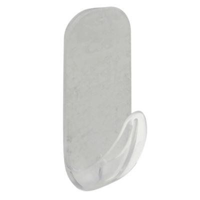 Gancho autoadhesivo rectangular x 1 unidad removible Grande cristal