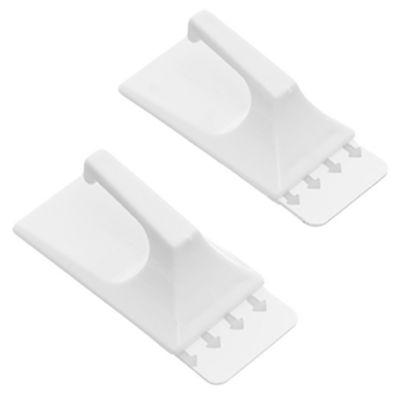 Gancho autoadhesivo cuadrado x 2 u removible Mediano blanco