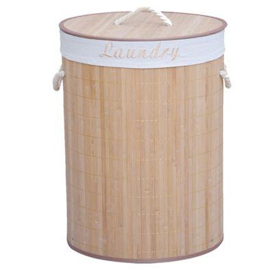 Canasto bamboo redondo 60 x 40 cm