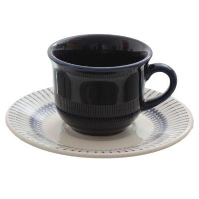 Taza té con plato Buzios cerámica