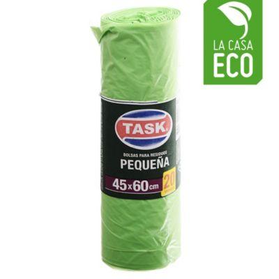 Bolsa de basura 45 x 60 cm verde x 20 unidades