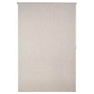 Cortina enrrollable black out texturada beige 150 x 250 cm