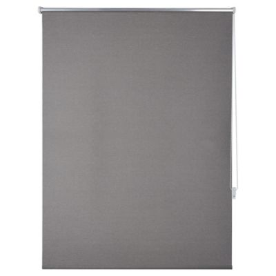 Cortina enrrollable black out texturada gris 160x165