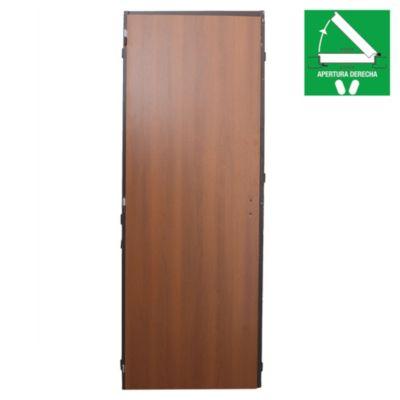 Puerta de interior melamina cedro derecha 70 cm