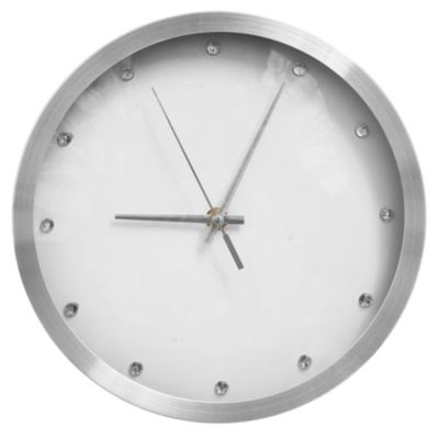 Reloj metálico blanco 30 cm
