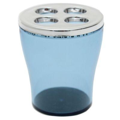 Portacepillo acrilico azul