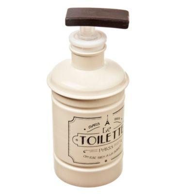 Dispensador de jabón de lata blanco y negro