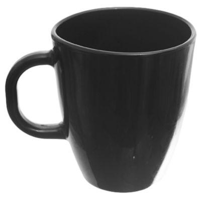Mug Amanecer vidrio negro 370 ml