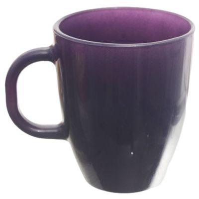 Mug Amanecer vidrio violeta rojo 370 ml