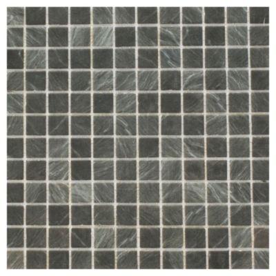 Revestimineto 31.6 x 31.6 Marble Pizarra mix negro