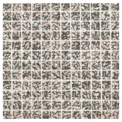 Revestimiento 31.6 x 31.6 cm Perissa negro
