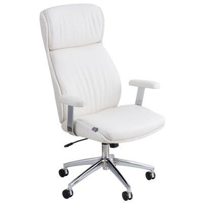 Silla de oficina ejecutiva blanca asenti 2179431 for Sillas de escritorio sodimac