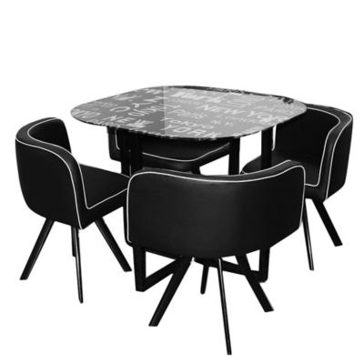 Set comedor Ciudades mesa + 4 sillas - Just Home Collection - 2179660