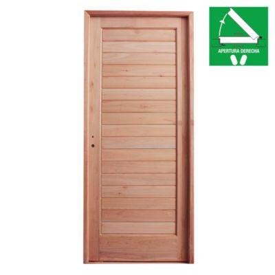 Puerta de madera 80 x 200 cm derecha