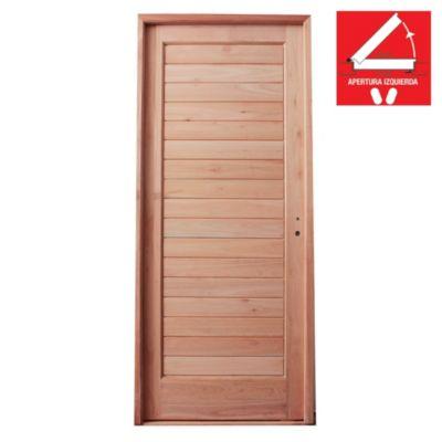 Puerta de madera 80 x 200 cm izquierda