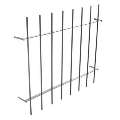 Reja para ventana aluminio H 12 100 x 90 cm