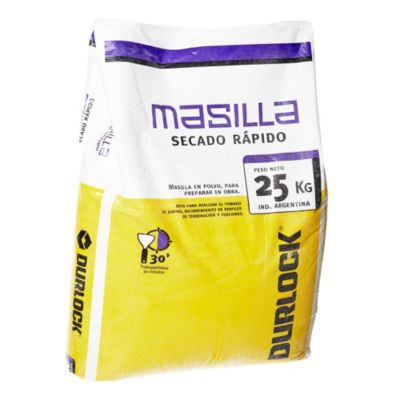 Masilla secado rápido 30 minutos bolsa 25 kg