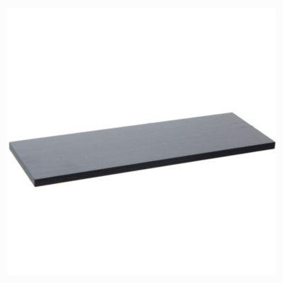 Estante de melamina negro 60 x 20 x 1,8 cm