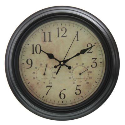 Reloj estaciones negro 30 cm
