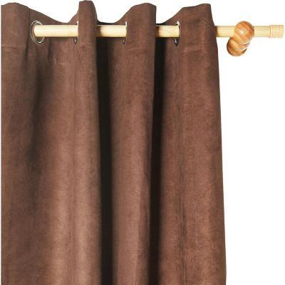Cortina black out de tela marrón 140 x 220 cm