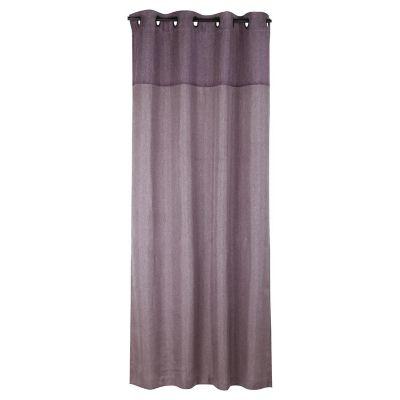 Cortina lino combinada gris 130 x 220 cm
