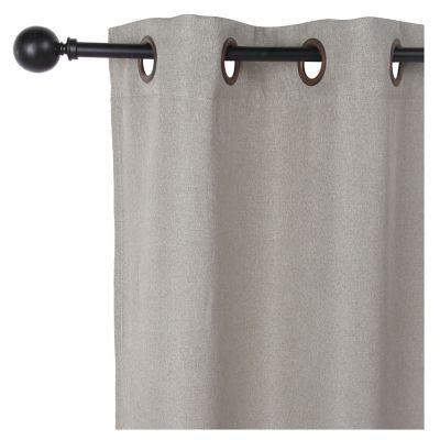 Cortina traslúcida de tela Lucca gris 140 x 250 cm