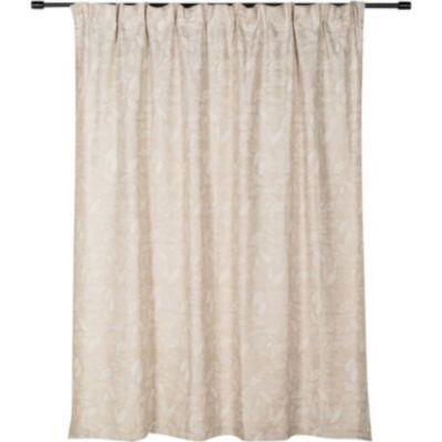 Cortina pinza Hojas beige 220 x 230 cm