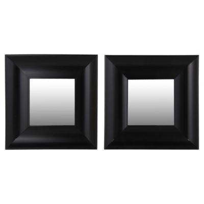 Set 2 espejos negros