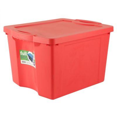 Caja plástica organizadora Fullbox 75 l rojo