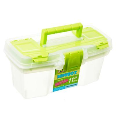Caja plástica Mini Box con bandeja Verde 11 l