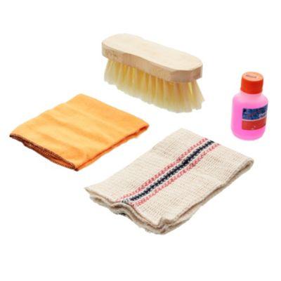 Kit de limpieza franela + rejilla + cepillo