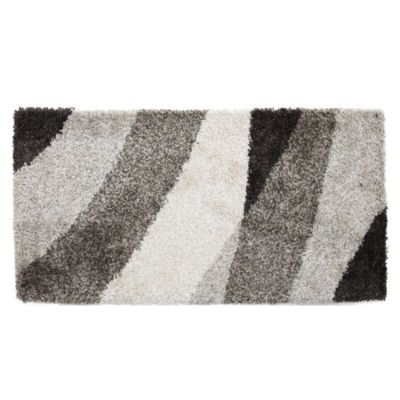 Alfombra Noblese negro y gris 60 x 115 cm