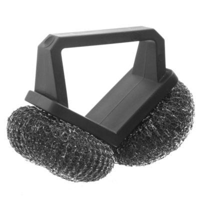 Cepillo parrillero con esponja de acero