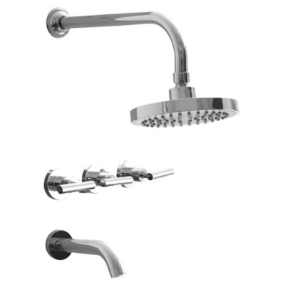 Grifería combinación para bañera Iron Lever con transferencia