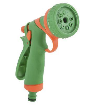 Pistola plástica de 8 funciones con mango antideslizante