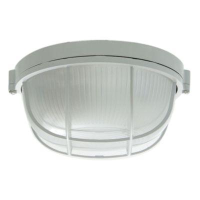 Tortuga de aluminio redonda 60 w blanca con reja