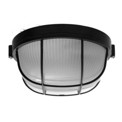 Tortuga de aluminio oval 60 w negra reja
