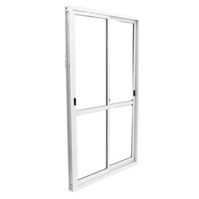 Ventana de aluminio 120 x 200 cm blanca