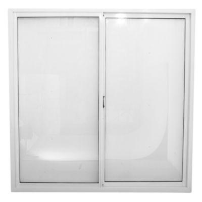 Ventana de aluminio 100 x  90 cm blanca