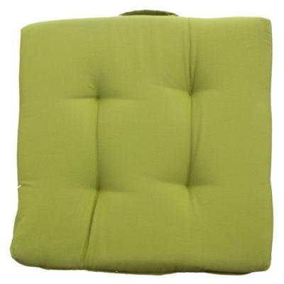 Almohadón decorativo para silla 35 x 35 cm Tatami de gabardina verde