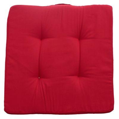 Almohadón decorativo para silla 35 x 35 cm Tatami de gabardina rojo