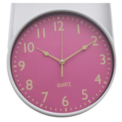 Reloj de pared 25 cm marco fluo