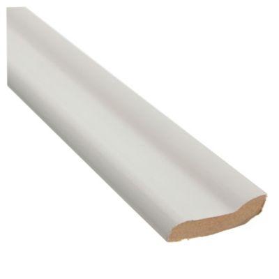 Zócalo moderno blanco 12 x 60 x 275 mm