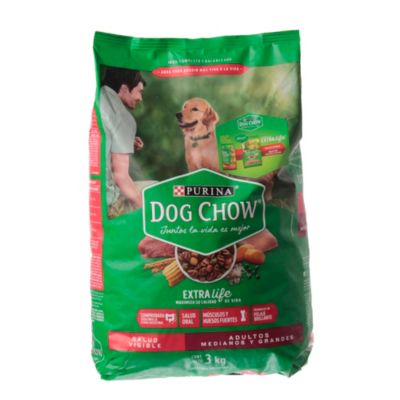 Dog chow adultos por 3 kg