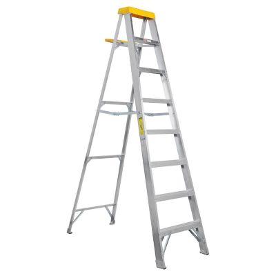 Escalera tijera aluminio 7 escalones 2,48 m