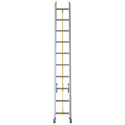 Escalera extensible aluminio 20 escalones 6,09 m