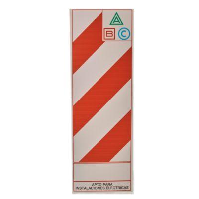 Cartel chapa baliza 29 x 88 cm