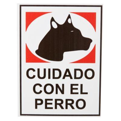 Cartel cuidado con el perro 15 x 20 cm