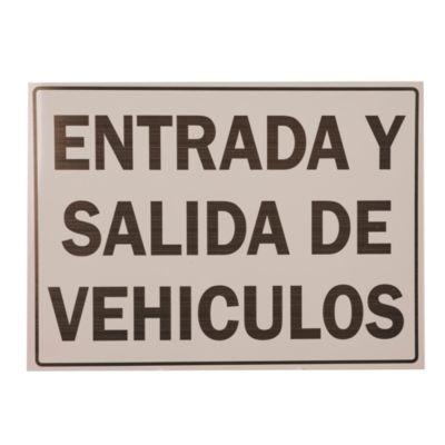 Cartel entrada/salida vehículo 30 x 40 cm