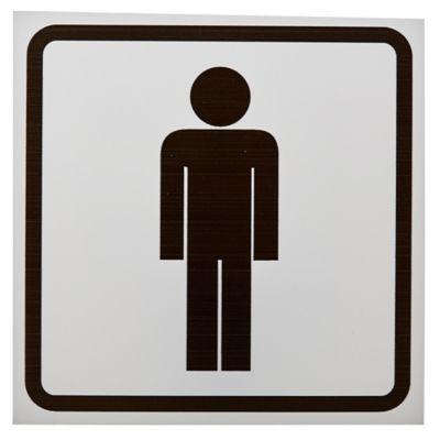 Cartel silueta hombre 14 x 14 cm